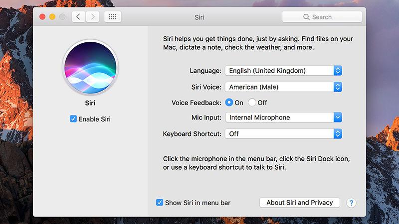 Mac Os Sierra Siri Menu